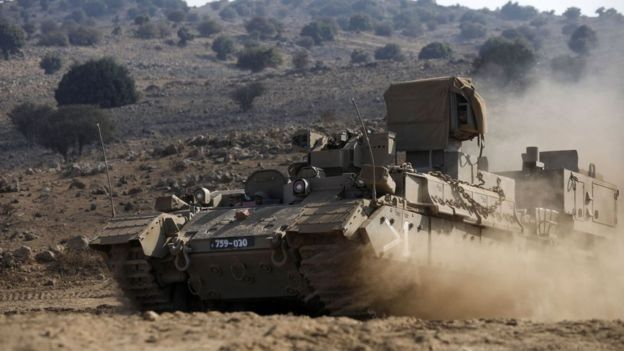 There has been tension between Syria and Israel over the Golan Mountains