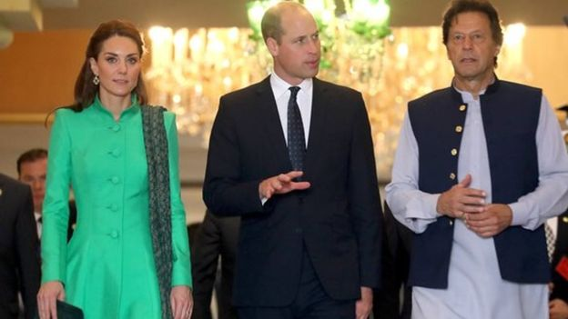 Princess Kate and William with Prime Minister Imran Khan