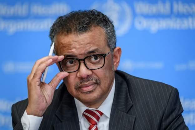 The head of the World Health Organization, Dr. Tedros Adhanom Ghebreyesus
